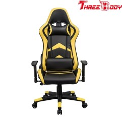 Yellow Office Chair Infinity Zero Gravity Player Seat Race Car Comfortable Bucket Black And