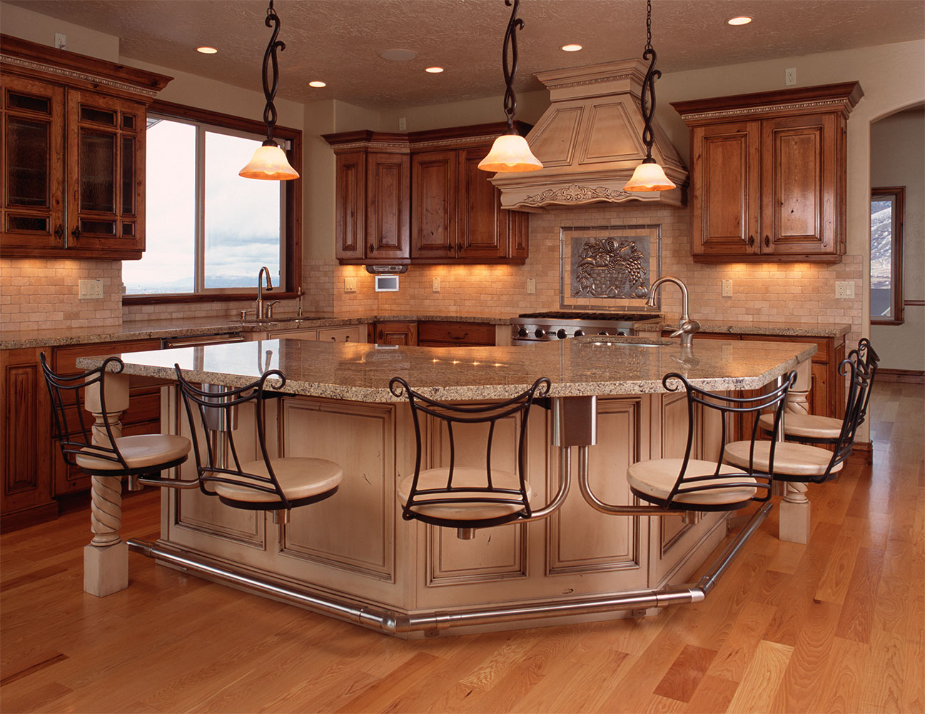 kitchen island with bar seating serrated knife photos innovations