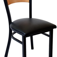 Folding Chair Vinyl Padded Black Leather Desk Australia Interchangeable Back Metal With A Circled