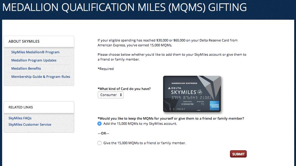 Delta American Express MQM Bonus