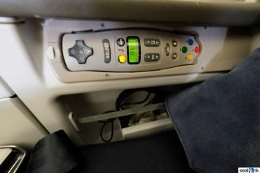IFE controls and headphone strorage