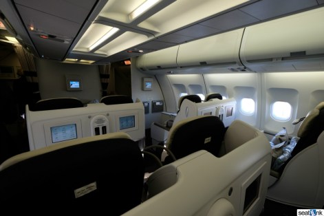 Looking forward towards row 1 on the AF A340