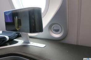 Window shade controls on BA 787