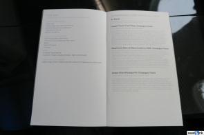 British Airways First class menu