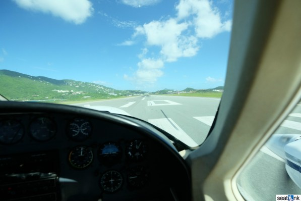 Starting the takeoff roll at STT