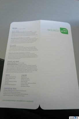 The JetBlue Mint menu, continued..