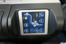 The seat controls