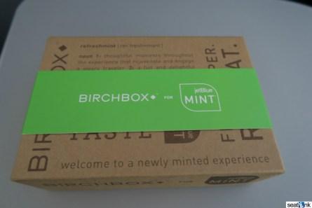 The JetBlue Mint amenity kit, from Birchbox