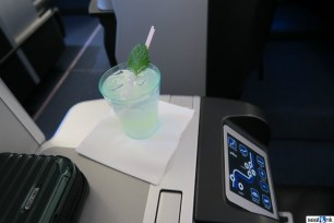 "The official JetBlue ""Mint"" cocktail PDB, which was actually quite refreshing...and minty!"