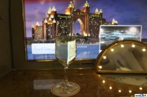 A little Dom Perignon to start out my Emirates Suites experience