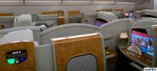 The Emirates A380 First Class cabin