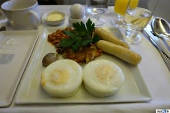 Singapore's egg breakfast in regional business class