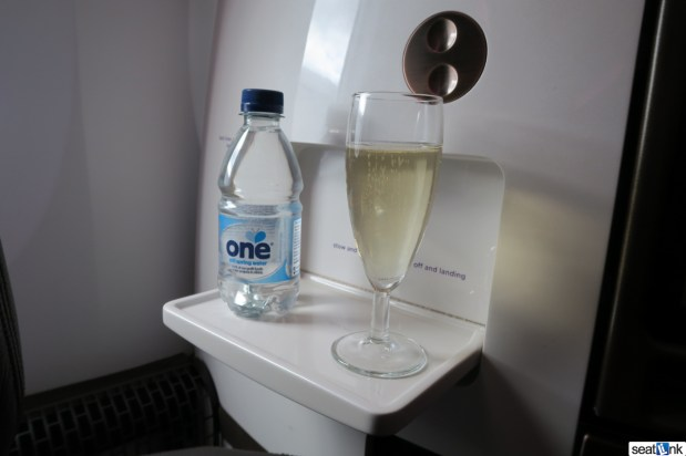 Virgin Atlantic predeparture champagne