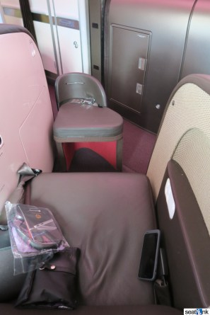 Virgin Atlantic Upper Class seat ottoman