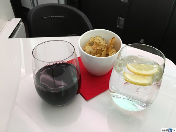 Post-departure wine and crisps