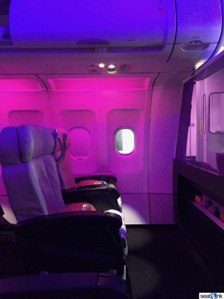 Virgin America mood lighting - pretty intense
