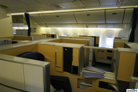8 seats in the ANA first class cabin
