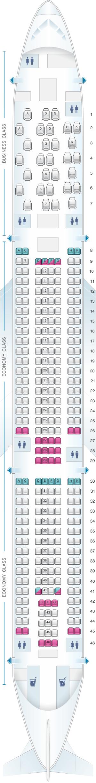 Map Lingus Aer A330 Dublin Seat