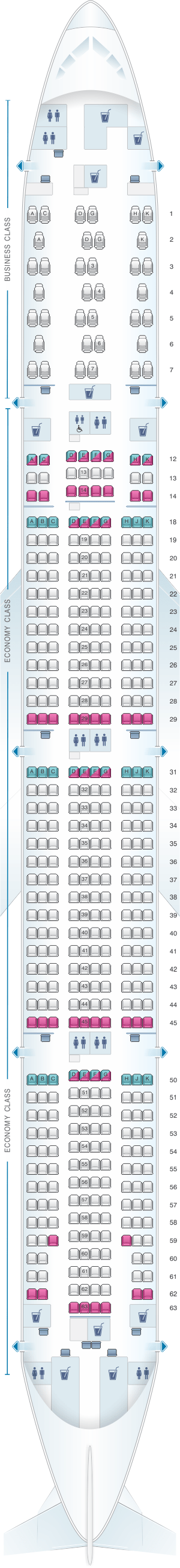 Seat Map For Air Canada Boeing B777 300er 77w North America Layout 2