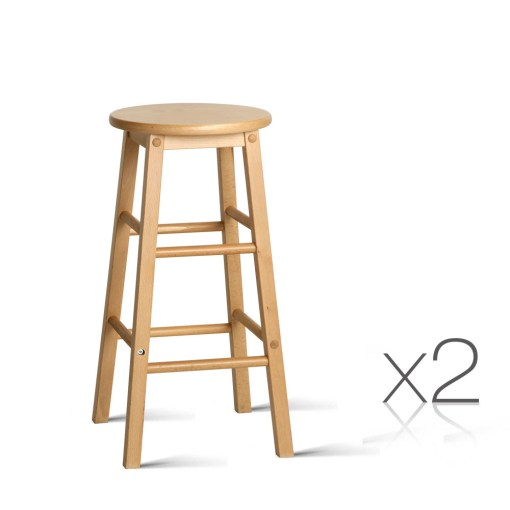 backless wooden bar stools