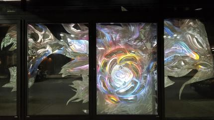 Art on Main window installation by Bruce Taylor 2018