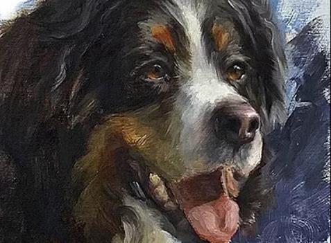 Painting Dynamic Dog Portraits Workshop with Johanne Mangi at Whidbey Island Fine Art Studio