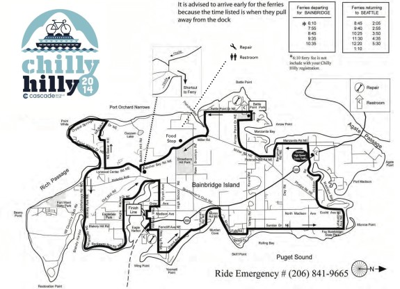 Sunday's Chilly Hilly ride likely to be 'chilly