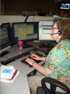 As a Southsound 911 communications officer, Shelley Timbers, of Lakewood (Pierce County), spends eight to 10 hours on the phone during her shifts, dealing with public's emergency calls, which range from shootings to cows and horses wandering public roadways.