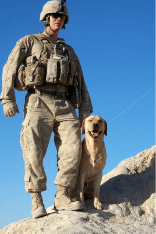 Sgt. Miller and Thor did everything together. Photo from American Humane Association.
