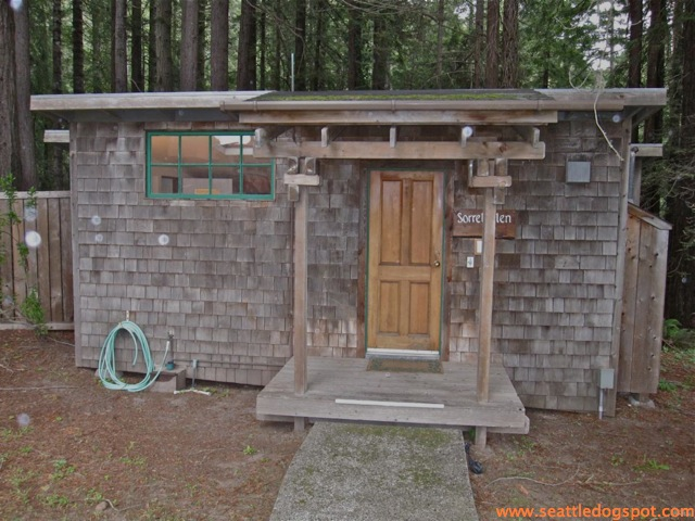 Our cabin at St. Orres. Photo from Seattle DogSpot.