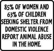 Domestic violence and animal abuse are strongly correlated. Click here for a list of organizations and women's shelters that accept dogs in the state of Washington.