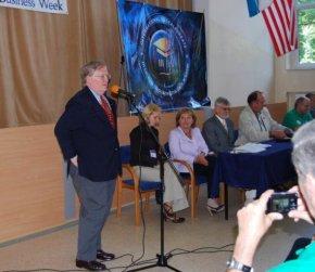 U.S. Ambassador, Victor Ashe, speaks at the opening ceremonies.