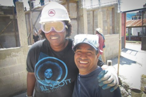 The author (left) with Aurelio Hernandez, in country director of Global Visionaries, building a school in Guatemala while directing a program for Seattle students to volunteer abroad.