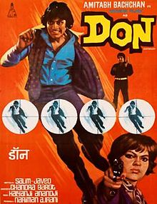 Hindi film poster of Don from 1978