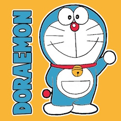 Logo of Hindi TV show Doraemon in Hindi