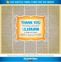 The Seattle Times Raises Record Amount for Fund For the Needy
