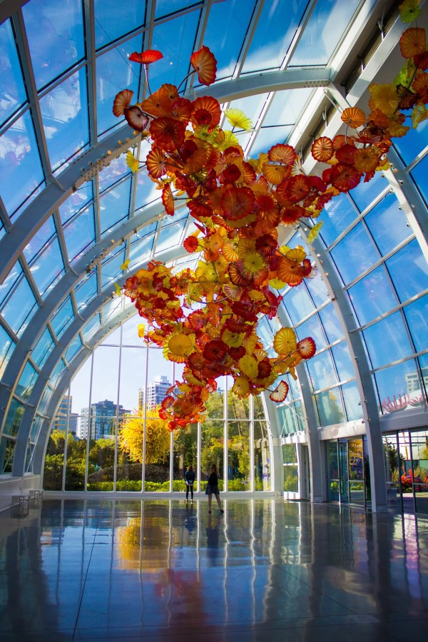 Exploring Chihuly Garden & Glass Monorail