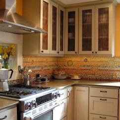 Kitchen Lazy Susan Sink Soap And Sponge Holder Custom Backsplash By Alexandra Immel | Seattle ...