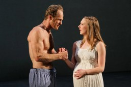 """Hans Altwies as Mark Antony and Sydney Andrews as Octavia in Seattle Shakespeare Company's 2012 production of """"Antony and Cleopatra."""" Photo by John Ulman."""