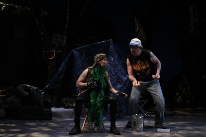 """David S. Hogan as Gremio and Bill Higham as Curtis in Seattle Shakespeare Company's 2013 production of """"The Taming of the Shrew"""" Photo by Chris Bennion."""