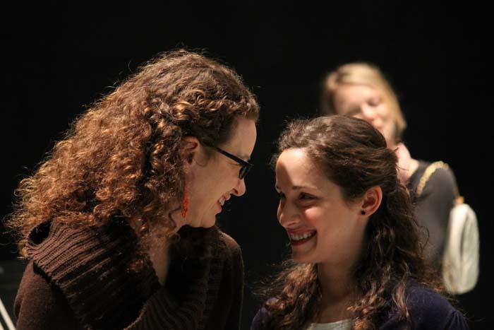 Samara Lerman as the Princess of France and Kayla Lian as Rosaline.