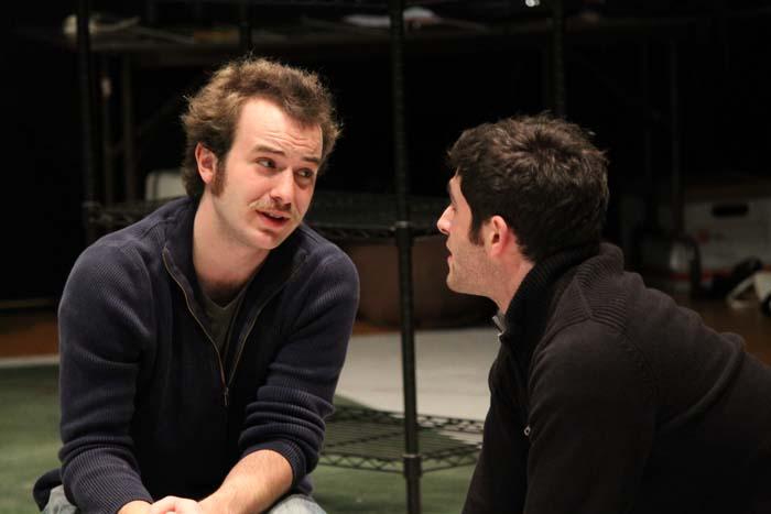 Scott Ward Abernethy as Boyet and Jonathan Crimeni as Longaville.