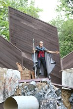 """Amy Thone as Prospero in Seattle Shakespeare Company's 2013 Wooden O production of """"The Tempest."""""""