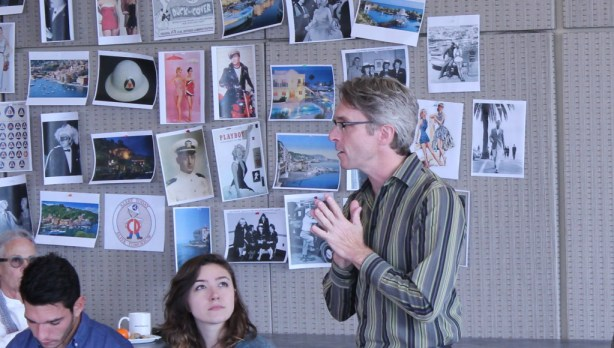 """Artistic Director George Mount at the first rehearsal for """"Much Ado About Nothing."""""""