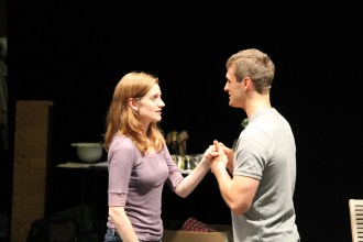 """Brenda Joyner as Hero and Jay Myers as Claudio in rehearsal for """"Much Ado About Nothing."""""""