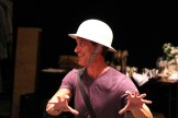 """David Quicksall as Dogberry in rehearsal for """"Much Ado About Nothing."""""""