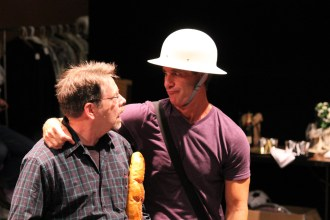 """Keith Dahlgren as one of the Watchmen and David Quicksall as Dogberry in rehearsal for """"Much Ado About Nothing."""""""
