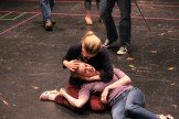 """Jennifer Lee Taylor as Beatrice and Brenda Joyner as Hero in rehearsal for """"Much Ado About Nothing."""""""