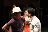 """David Quicksall as Dogberry and Noah Greene as Borachio in rehearsal for """"Much Ado About Nothing."""""""
