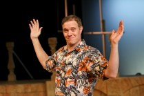"""Matt Shimkus as Benedick in Seattle Shakespeare Company's 2013 production of """"Much Ado About Nothing."""" Photo by John Ulman."""